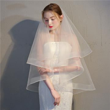 Voile Two Layer Veil-Your Wedding Veil Store