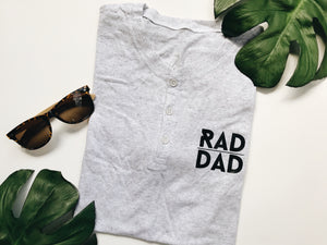 Load image into Gallery viewer, Rad dad Henley tee