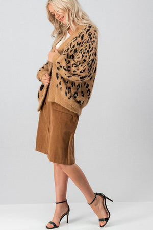 Load image into Gallery viewer, Leopard fuzzy cardigan