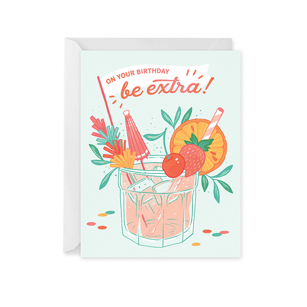 Birthday Cocktail Card - Paper Raven Co.