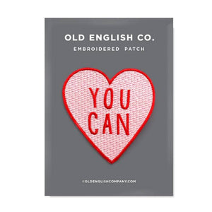 Load image into Gallery viewer, Old English Company - You Can Heart Embroidered Patch