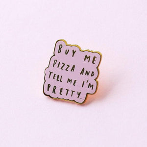 Load image into Gallery viewer, Old English Company - Buy Me Pizza Enamel Pin