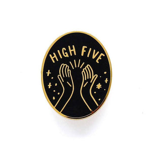 Load image into Gallery viewer, Old English Company - High Five Hands Enamel Pin