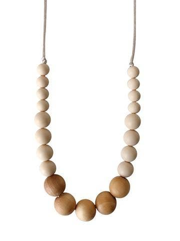 Chewable Charm - The Landon - Cream Teething Necklace