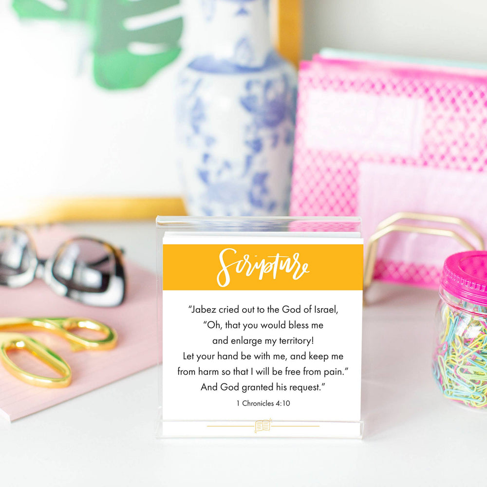 Load image into Gallery viewer, Cleerely Stated - VOLUME 2 Scripture Devotional Cards w/ Acrylic Stand