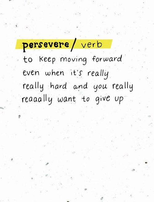 Persevere Card-Thoughtful Human