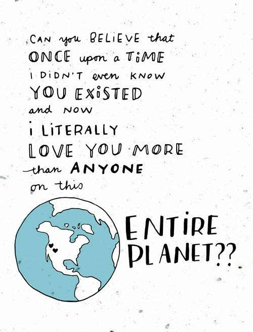 Entire Planet Card-Thoughtful Human