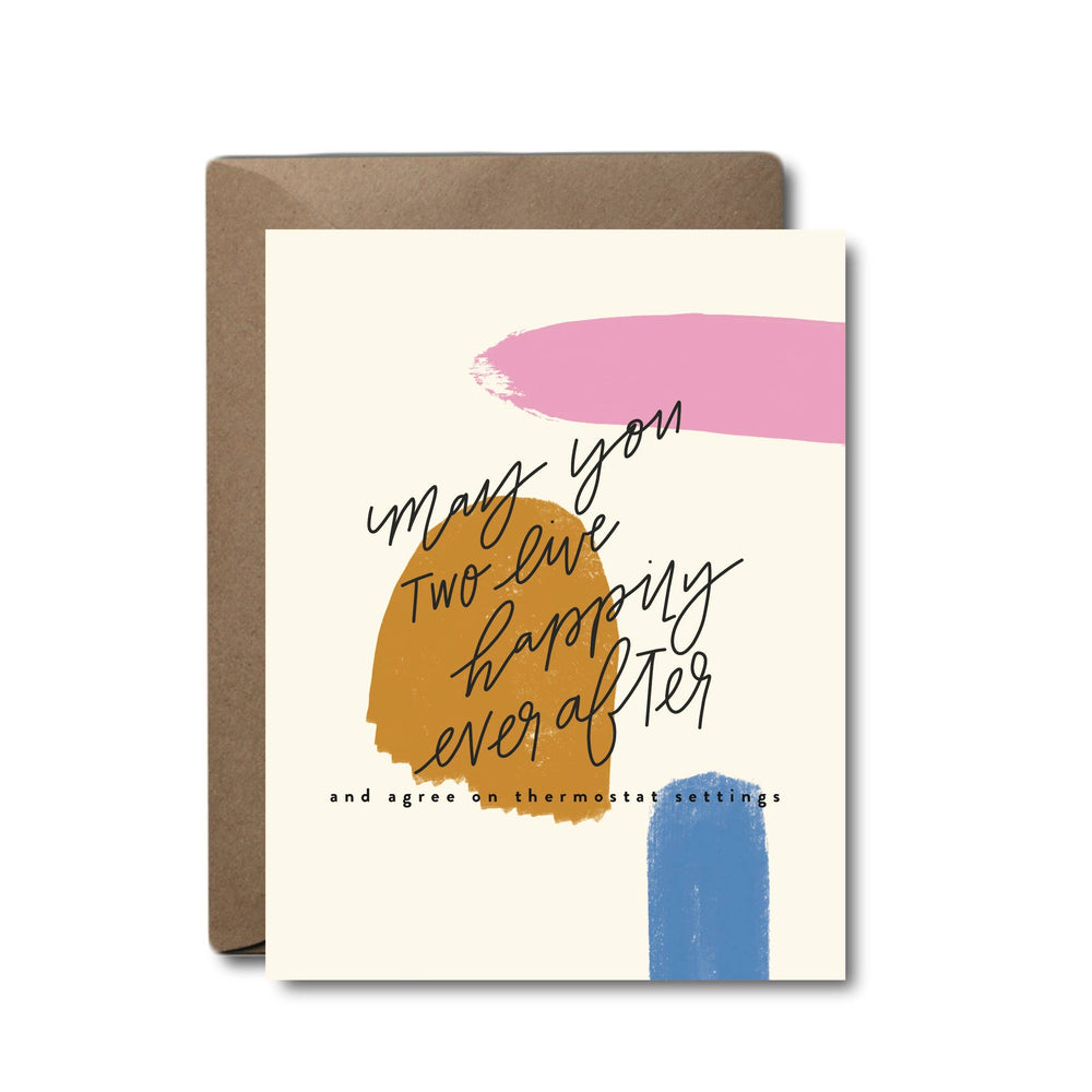 Thermostat Settings Wedding Greeting Card