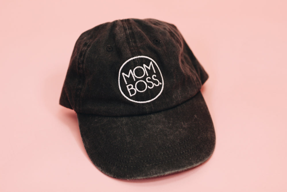 Load image into Gallery viewer, mom boss vintage hat