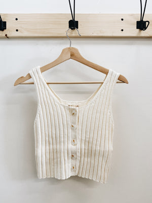 Load image into Gallery viewer, Ribbed sweater tank