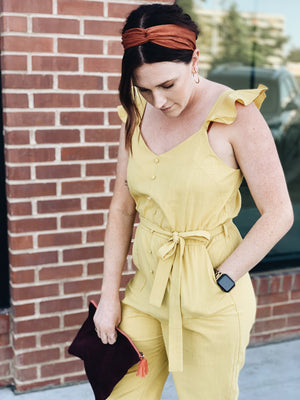 Load image into Gallery viewer, Yellow jumpsuit