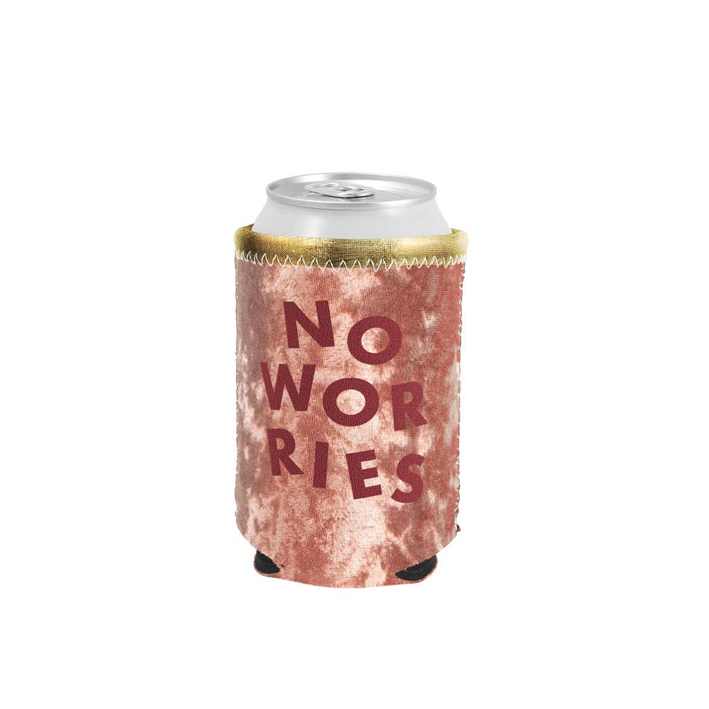 No Worries - Metallic and Velvet Can Coolers