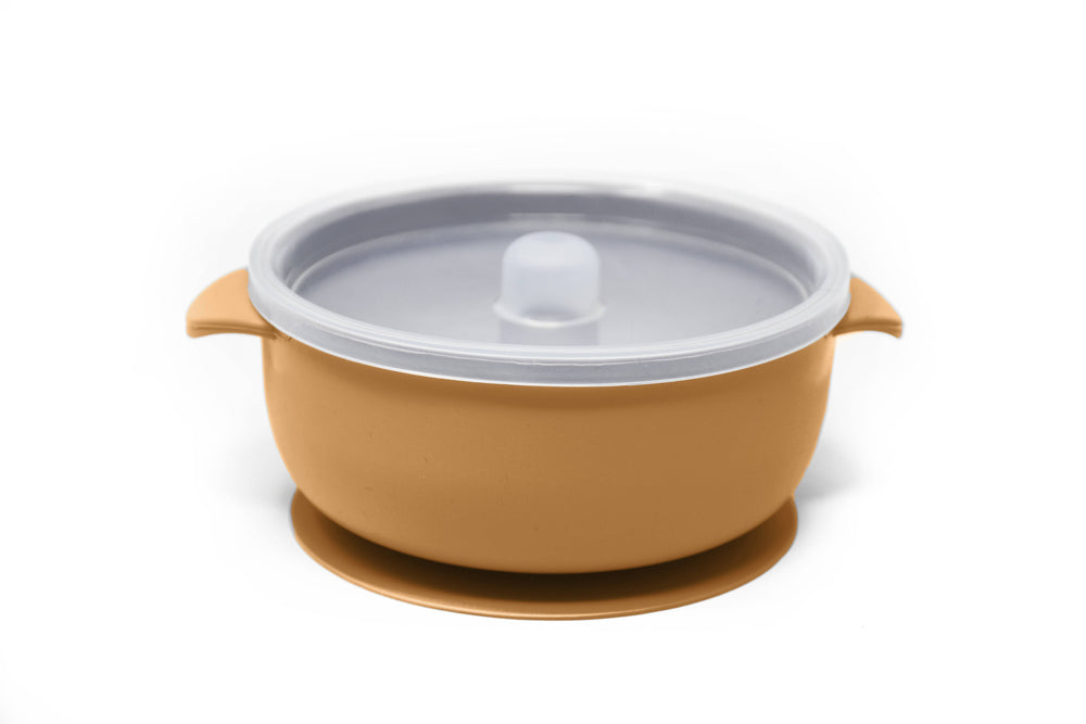 The Dearest Grey - BABY BOWLS | SUCTION BOWL | Mustard