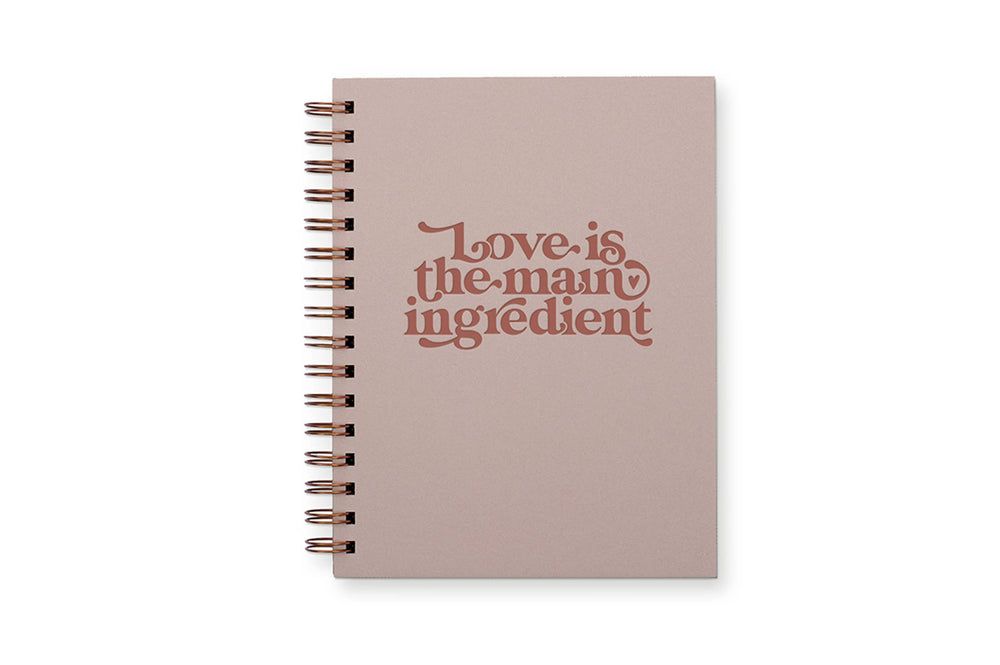 Love is The Ingredient Recipe Cookbook- terracotta