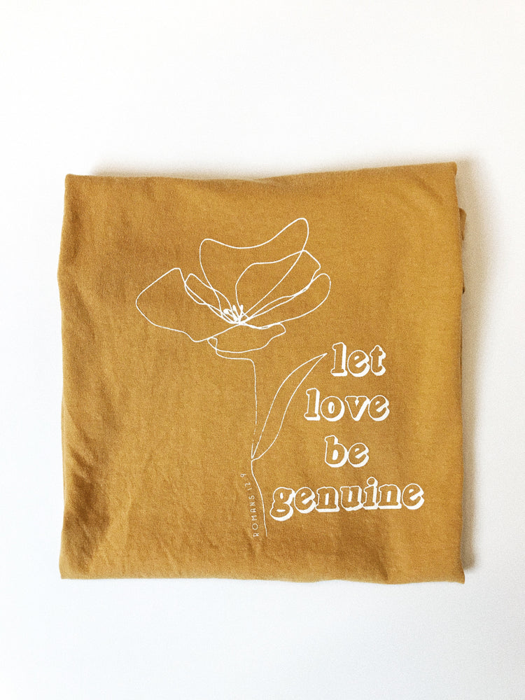 Load image into Gallery viewer, Let love be genuine tee