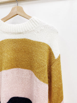 Load image into Gallery viewer, Striped color block knit