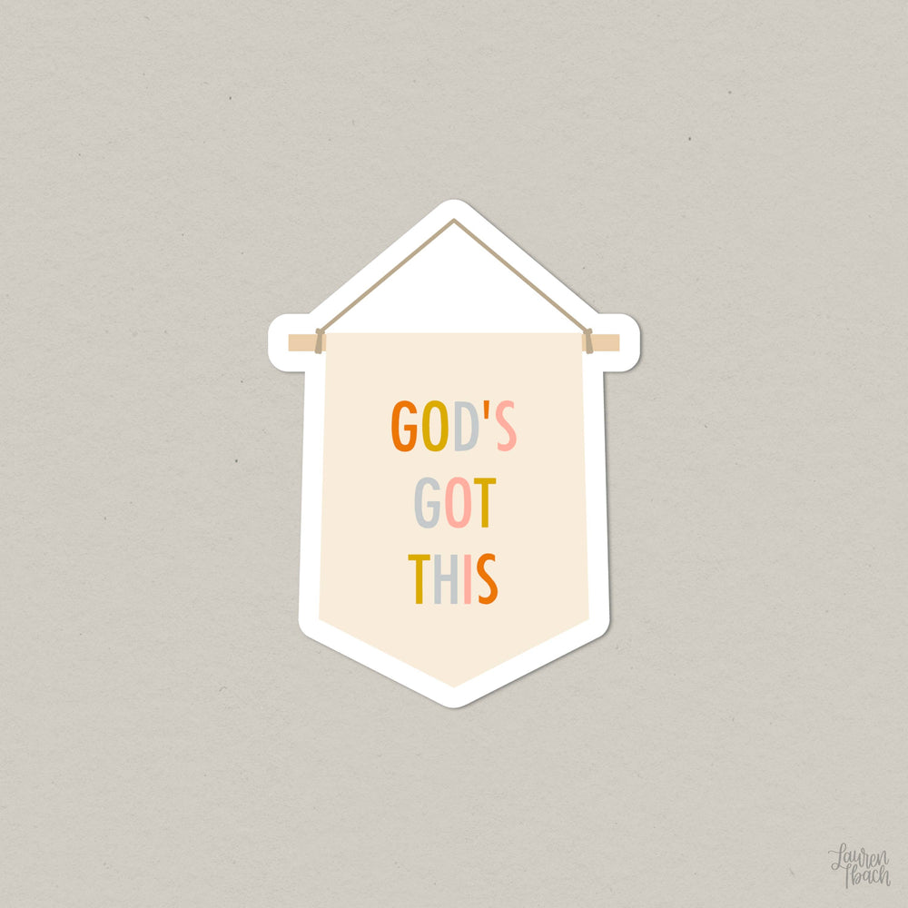 Lauren Ibach - God's Got This - Vinyl Die Cut Sticker