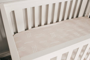 Load image into Gallery viewer, Brixton Phoenix - Sand Mudcloth Crib Sheet