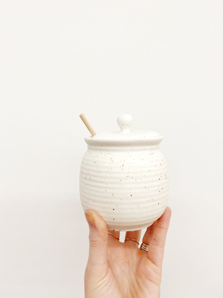 ceramic honey jar