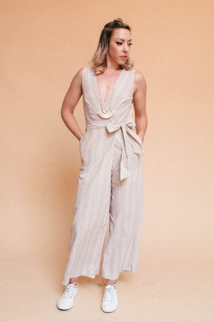 Load image into Gallery viewer, Marigold Striped Romper