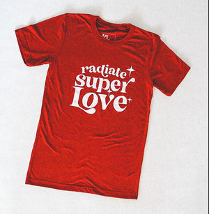 Load image into Gallery viewer, Radiate Super love rusty red Tee