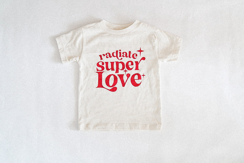Load image into Gallery viewer, Radiate Super love Natural Tee