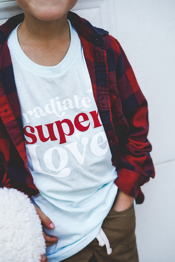Load image into Gallery viewer, Radiate Super love blue Tee