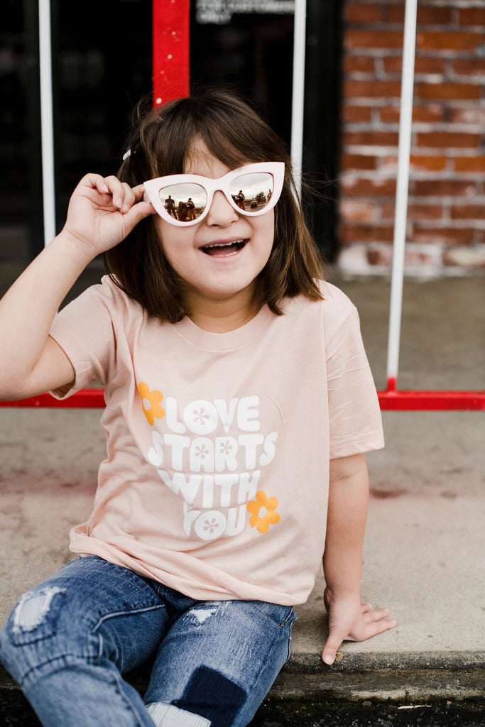 love starts with you Kid's tee
