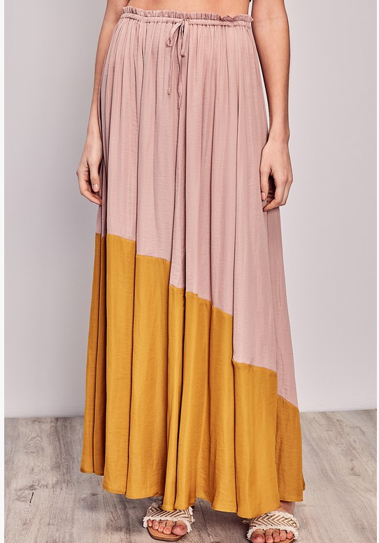Two-Toned Maxi Skirt