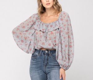 Load image into Gallery viewer, chiffon floral top