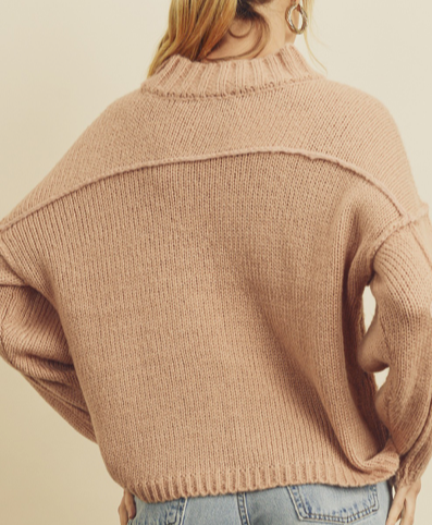 Load image into Gallery viewer, Mock Neck Blush Sweater