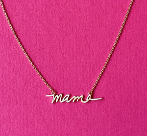 Load image into Gallery viewer, Mama Script Necklace