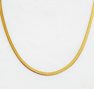 Load image into Gallery viewer, Classic Herringbone Chain Necklace - 3 mm