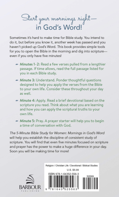 Load image into Gallery viewer, The 5-Minute Bible Study for Women: Mornings in God's Word