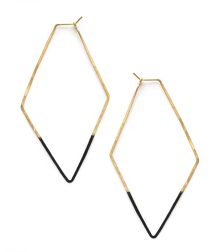 Mind's Eye Design - Mired Metal Rhombus Earrings