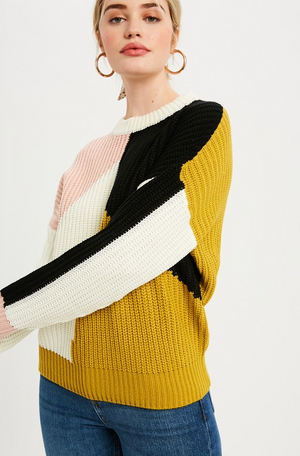 Load image into Gallery viewer, Multi Colored Round Neck Sweater