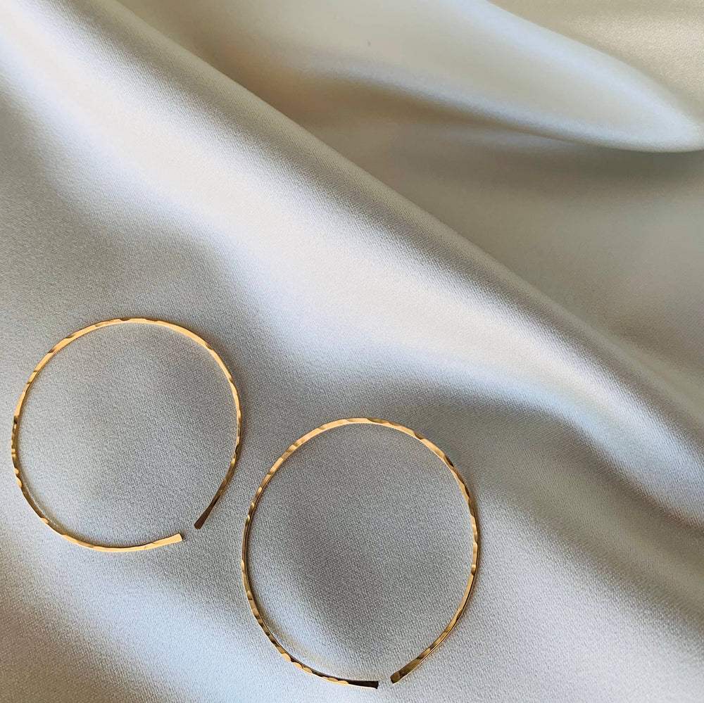 Hammered Hoops-Points Jewelry