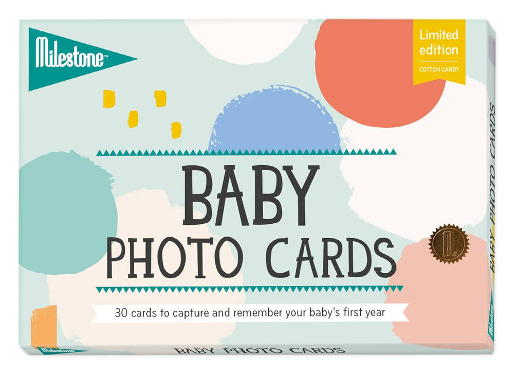 Baby Milestone Cards Set-cotton candy