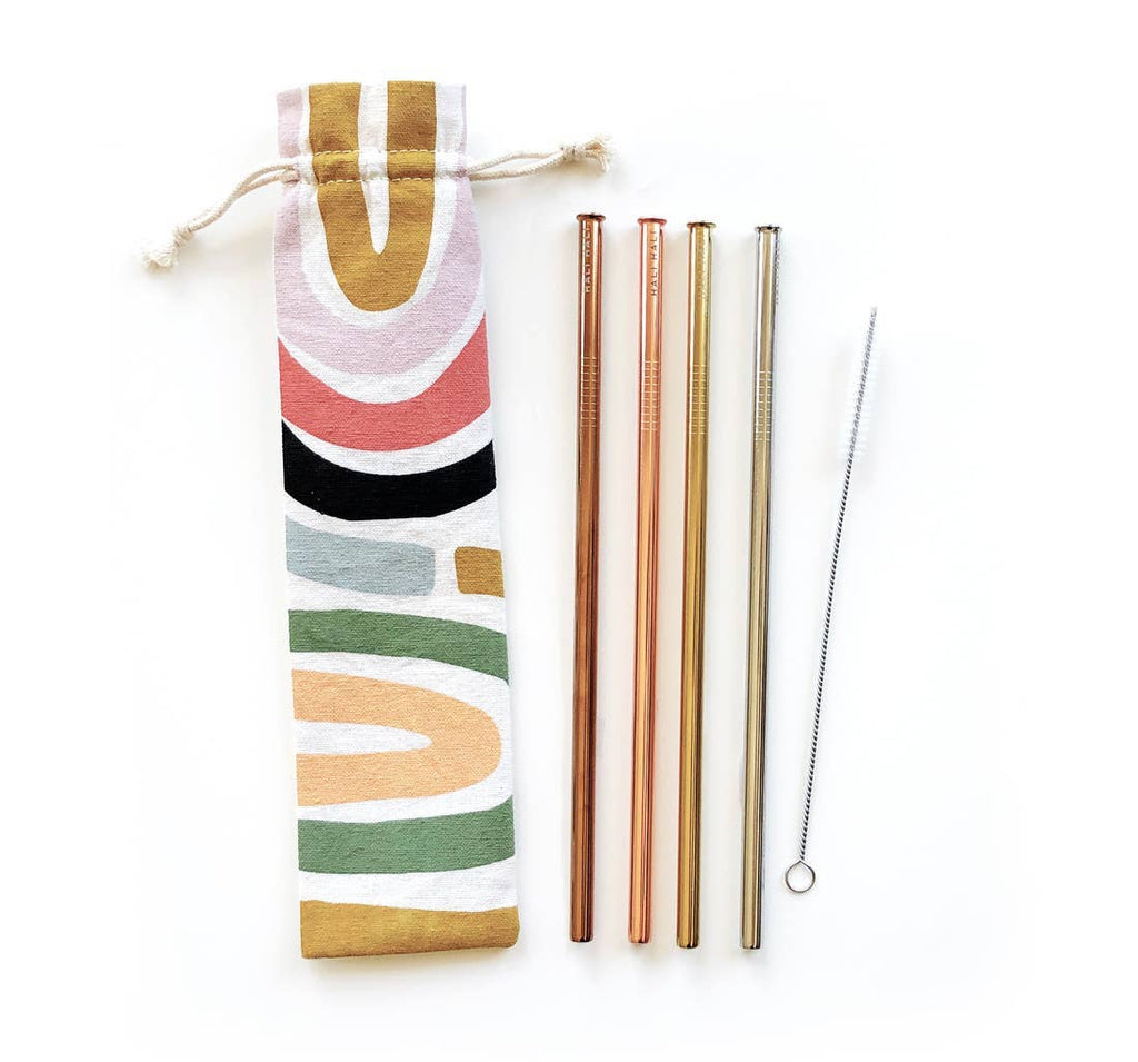Eco Friendly Reusable Straws- rainbow