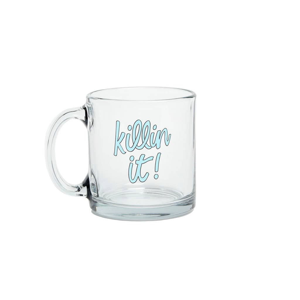 Talking Out of Turn - Glass Mugs