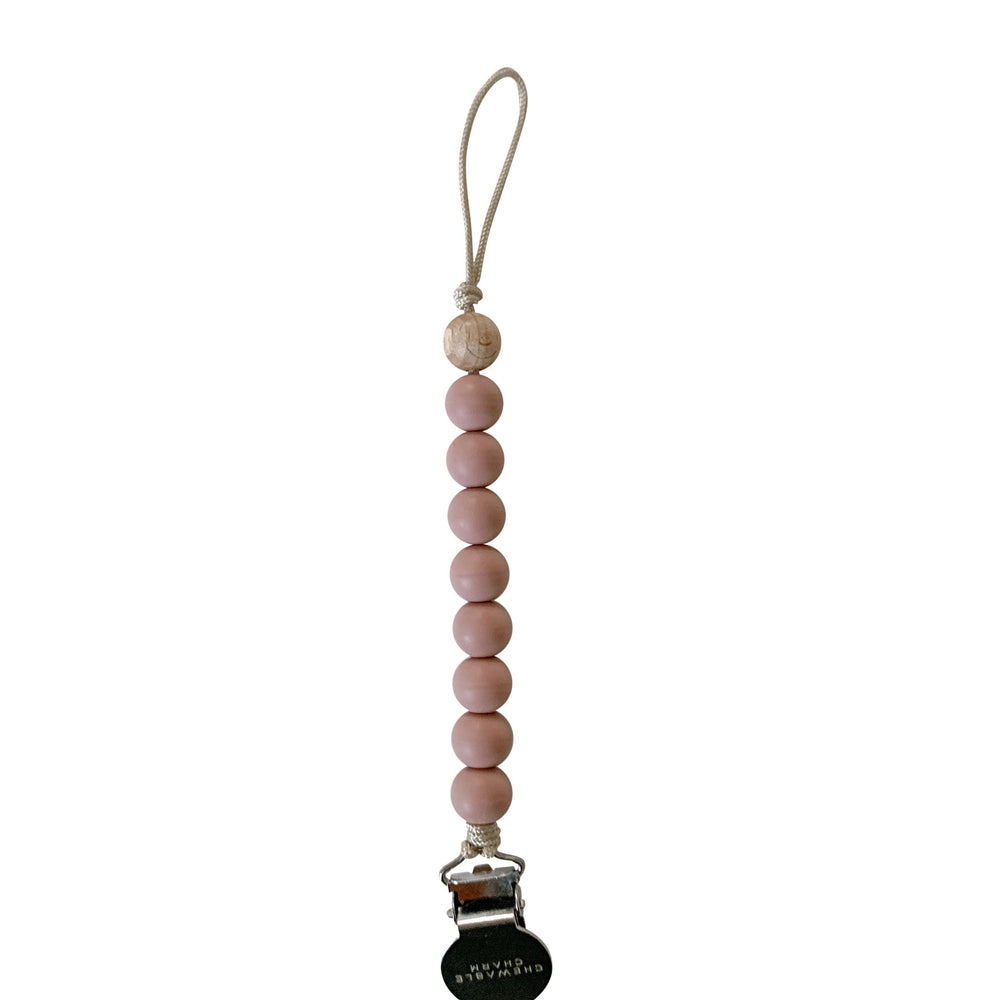 Chewable Charm - Crew Pacifier Clip - Rose