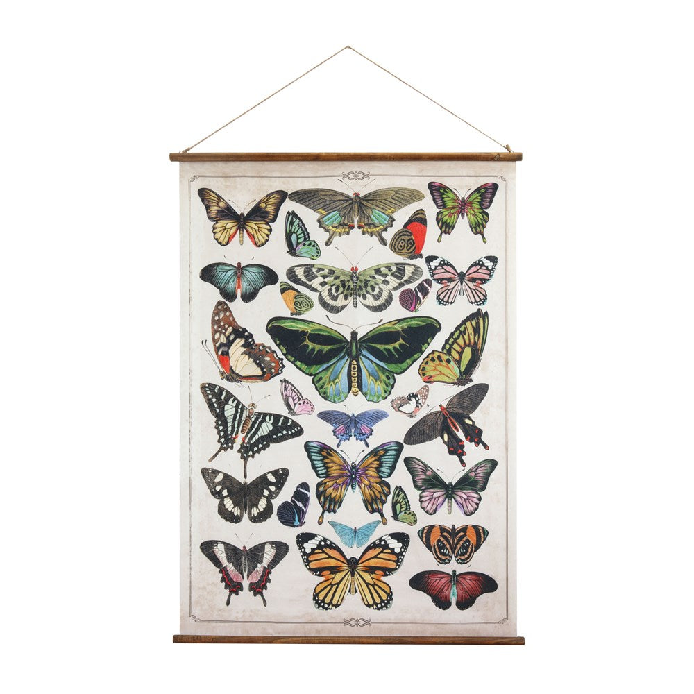 Butterfly botanical wall art with hanging frame