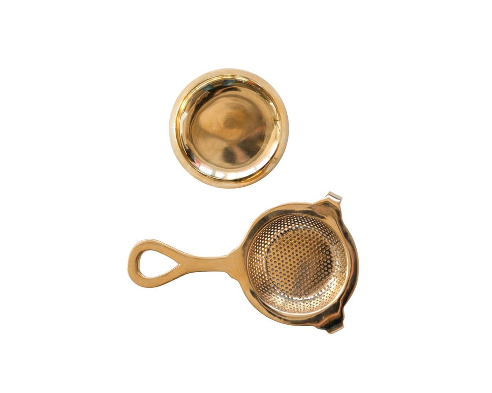 "5""L Brass Tea Strainer"