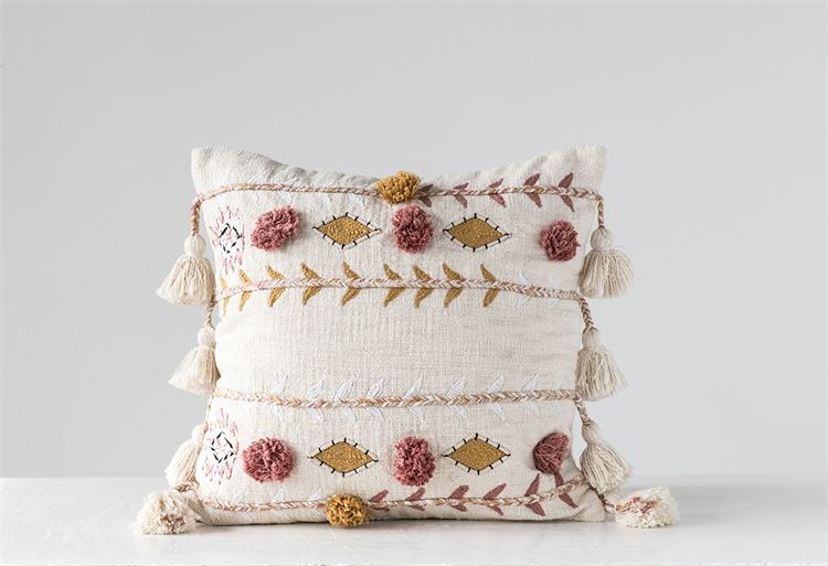 boho cotton pillow