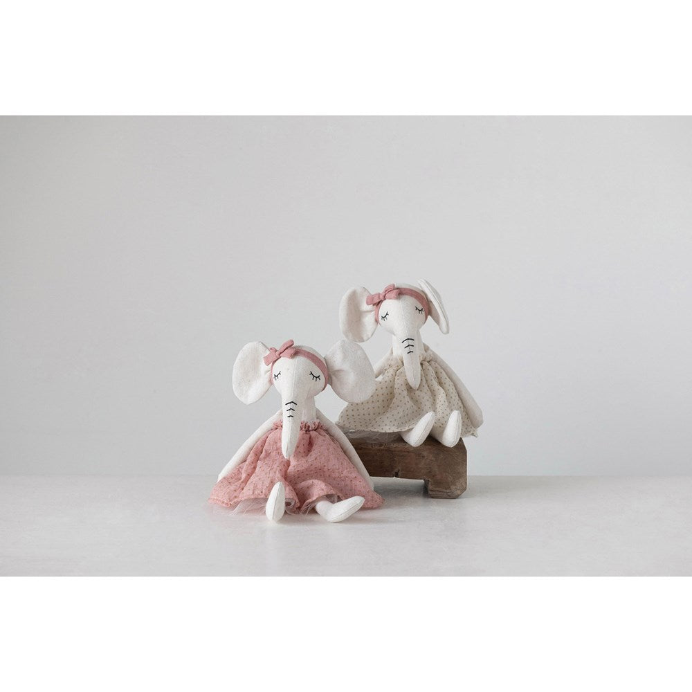 Load image into Gallery viewer, Linen elephant doll