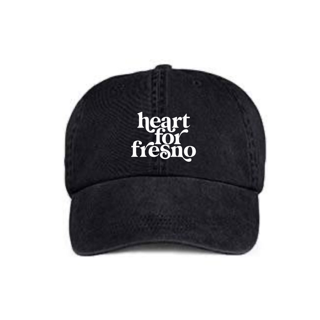Heart for Fresno Vintage dad Hat