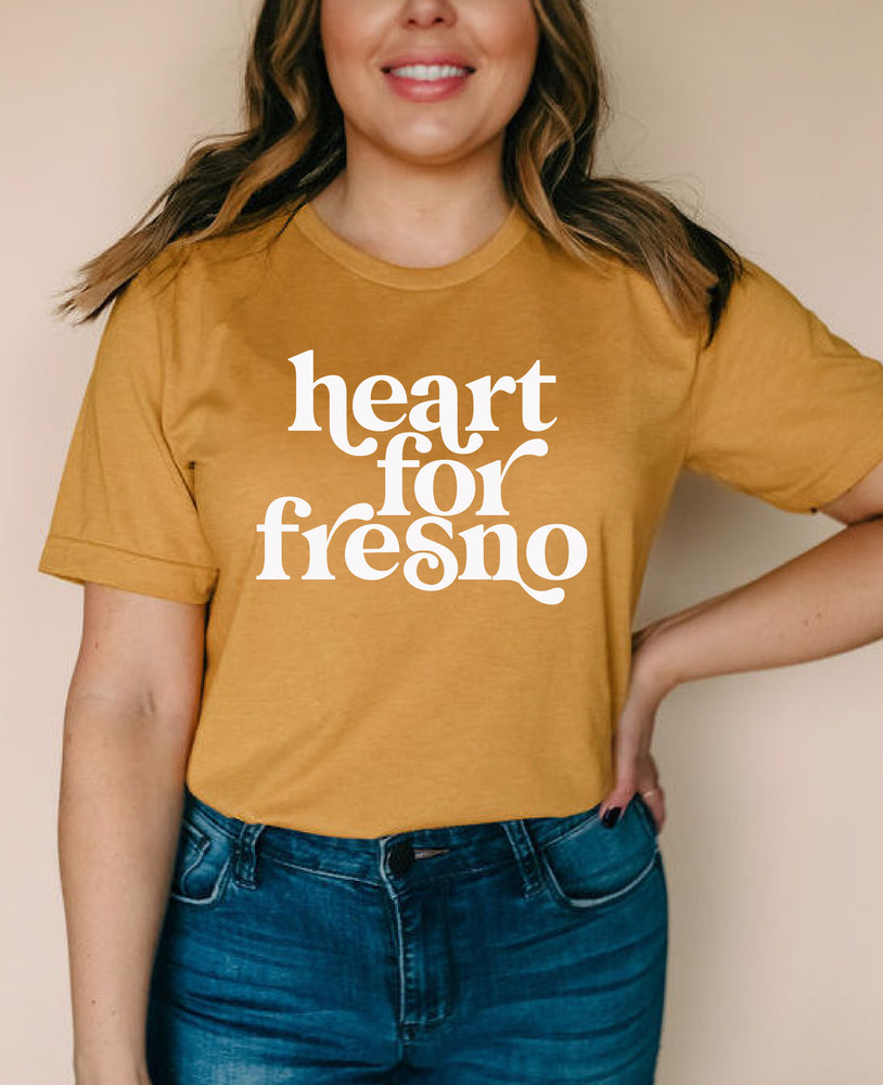 Load image into Gallery viewer, Mustard Heart for Fresno Tee