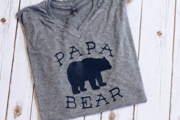 Papa Bear Tee.pregnancy annoucement tee. fathers day gift.dad apparel.dad tee shirt.dad clothing. dad shirt