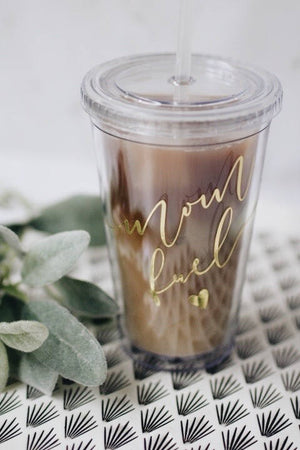 Load image into Gallery viewer, mom fuel tumbler. Mom fuel coffee tumbler. Mom gift. holiday gift for mom. Mom tumbler. Mom cup. Mom life cup.