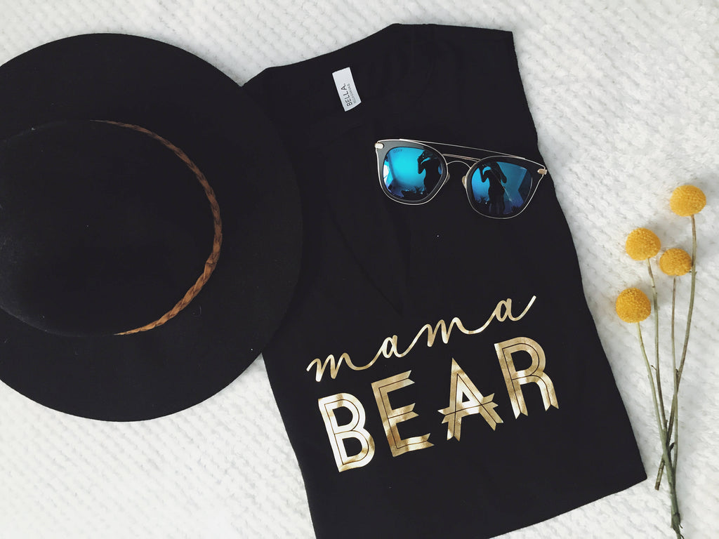 mama bear tank top. mama bear shirt. mom apparel. mom tank top. New mom gift. mom Christmas gift. mom gift.